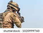 infantry soldier of the elite... | Shutterstock . vector #1020999760