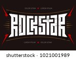 rockstar   t shirt design. rock ... | Shutterstock .eps vector #1021001989