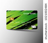 realistic detailed credit cards.... | Shutterstock .eps vector #1021002484