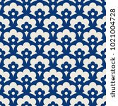 seamless retro pattern with... | Shutterstock .eps vector #1021004728
