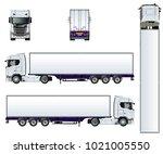 vector truck template isolated...   Shutterstock .eps vector #1021005550