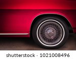 the front end of a sixties... | Shutterstock . vector #1021008496