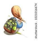 watercolor illustration... | Shutterstock . vector #1021016674