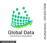 digital company logo icon | Shutterstock .eps vector #1021017658