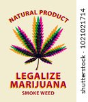 vector banner for legalize... | Shutterstock .eps vector #1021021714