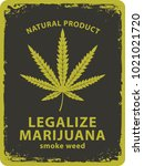 vector banner for legalize... | Shutterstock .eps vector #1021021720