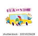 flat collection of happy animal ...   Shutterstock . vector #1021023628