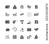money icon set isolated on... | Shutterstock .eps vector #1021023874