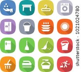flat vector icon set   chemical ... | Shutterstock .eps vector #1021024780
