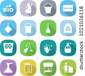 flat vector icon set   bio... | Shutterstock .eps vector #1021026118