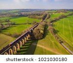 ouse valley viaduct  sussex  uk ... | Shutterstock . vector #1021030180
