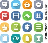 flat vector icon set   message... | Shutterstock .eps vector #1021031404
