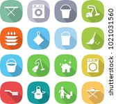 flat vector icon set   iron... | Shutterstock .eps vector #1021031560