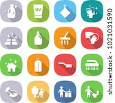 flat vector icon set   cleanser ... | Shutterstock .eps vector #1021031590