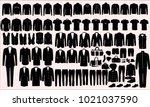vector collection of men's... | Shutterstock .eps vector #1021037590