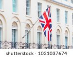 british flag flying on the...   Shutterstock . vector #1021037674