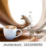 liquid chocolate  caramel or... | Shutterstock .eps vector #1021040050