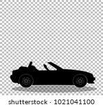 black silhouette of modern...   Shutterstock .eps vector #1021041100