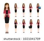 business woman character... | Shutterstock .eps vector #1021041709