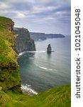 cliffs of moher in ireland at... | Shutterstock . vector #1021045048