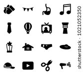 solid vector icon set   gloves... | Shutterstock .eps vector #1021052350