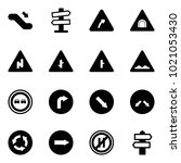 solid vector icon set  ... | Shutterstock .eps vector #1021053430