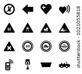 solid vector icon set   no... | Shutterstock .eps vector #1021055818