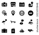 solid vector icon set  ... | Shutterstock .eps vector #1021055848
