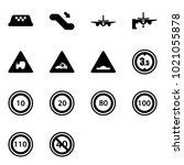solid vector icon set   taxi...   Shutterstock .eps vector #1021055878