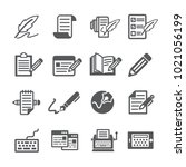 copywriting icon set | Shutterstock .eps vector #1021056199