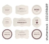 set of premium label for design ... | Shutterstock .eps vector #1021058689
