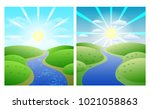 set of illustrations with... | Shutterstock .eps vector #1021058863