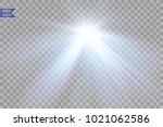 vector transparent sunlight... | Shutterstock .eps vector #1021062586
