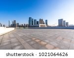 empty floor with moden office... | Shutterstock . vector #1021064626