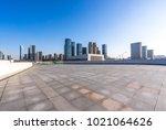 empty floor with moden office... | Shutterstock . vector #1021064626
