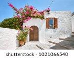 facade of traditional white... | Shutterstock . vector #1021066540