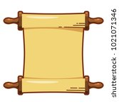 color image of a papyrus roll... | Shutterstock .eps vector #1021071346