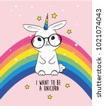 Cute Rabbit Unicorn