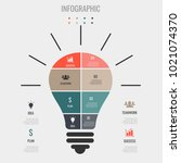 light bulb. good idea | Shutterstock .eps vector #1021074370