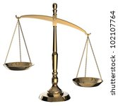 gold scales of justice isolated ... | Shutterstock . vector #102107764