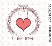 happy mothers day card | Shutterstock .eps vector #1021079710