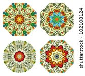 set of colorful ethnicity round ...   Shutterstock .eps vector #102108124