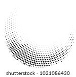 black arc with dot | Shutterstock .eps vector #1021086430