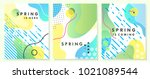 unique artistic spring cards... | Shutterstock .eps vector #1021089544