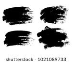 painted grunge stripes set.... | Shutterstock .eps vector #1021089733
