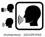 voice command  sign  symbol ... | Shutterstock .eps vector #1021091944