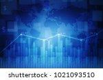 3d rendering stock market... | Shutterstock . vector #1021093510