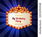 you are invited to a birthday... | Shutterstock .eps vector #1021094548
