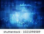 2d rendering stock market... | Shutterstock . vector #1021098589