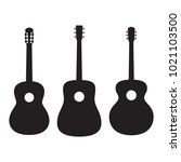 set of silhouettes acoustic... | Shutterstock .eps vector #1021103500